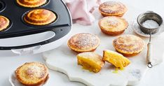 With a custardy, gooey bottom and fluffy top, these Kmart pie maker puddings taste exactly like the classic dessert! Mini Pie Recipes, Cooking Recipes, Lemon Recipes, Fodmap Recipes, Sweet Recipes, Cheesecake Swirl Brownies, Lemon Custard, Lemon Tarts, Just Pies