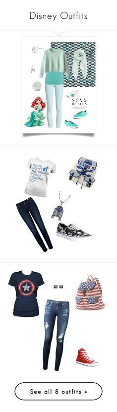 """Disney Outfits"" by prettypicture99 ❤ liked on Polyvore featuring Barbour, M&Co, Disney, Skinnydip, Furla, Bling Jewelry, Superga, R2, Vans and Anine Bing"