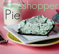 Grasshopper Pie - this minty no bake pie is a family favorite!! Use Thin Mints or Grasshopper cookies for the filling.