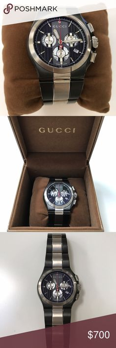Gucci men's watch Gucci watch / no scratches / still has the back plastic on / box has few signs of wear / needs new battery Gucci Accessories Watches