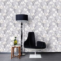 Haltiatar, pearly white by Saara Kurkela Wallpaper Collection, Interior Design, Lighting, Room, Inspiration, Finland, Home Decor, Templates, Nordic Style
