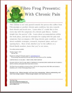 The FibroFrog: Online Seminar: Living With Chronic Pain