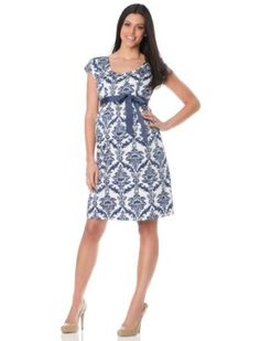 Motherhood Maternity: Short Sleeve Empire Waist Maternity Dress Motherhood Maternity. $39.98