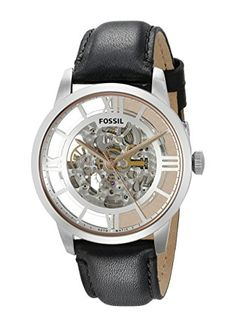 We offer the absolute best price watches Fossil Townsman Automatic Skeleton Dial Black Leather Men's Watch has Stainless Steel Case,Black Leather Strap, Automatic Movement Automatic Skeleton Watch, Fossil Watches For Men, Skeleton Watches, Best Watch Brands, Online Watch Store, Jewelry Watches, Black Leather, Accessories, Dapper