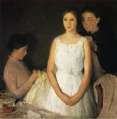 Charles Webster Hawthorne (American Painter, 1872-1930) The Trousseau 1910