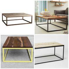 Metal industrial coffee tables -- Plaster & Disaster