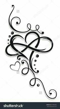 Tribal Heart Large Infinity Loop Stock-Vektorgrafik (Lizenzfrei) 1008874423 – foot tattoos for women Tattoos With Kids Names, Tattoos For Daughters, Tattoos For Women Small, Small Tattoos, Daughter Tattoos, Tattoos For Grandchildren, Tattoos Children, Foot Tatoos, Mother Daughter Infinity Tattoos