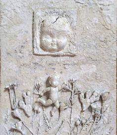 "Objet d'art - acrylic paint and collage. ""My little Runaway""  'hixidixi@gmail.com"