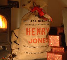 Personalised Christmas Sack - Screen Printed