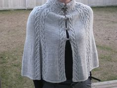Ravelry: Burnham Wood Capelet pattern by Rosemary (Romi) Hill paid pattern