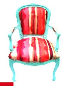 """The Divine Chair. """"Stella"""" has inspired me to learn how to reupholster Painted Chairs, Painted Furniture, Home Furniture, Baroque Furniture, Painted Wood, Turquoise Cottage, Turquoise Chair, Teal Chair, Home Interior Design"""