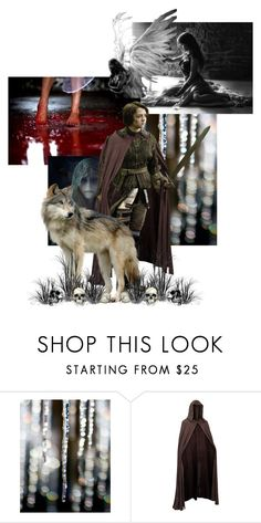 """""""My name is Arya Stark, I want you to know that"""" by ladymachiavelli ❤ liked on Polyvore featuring WALL, Mason's, GameOfThrones, HouseStark and AryaStark"""