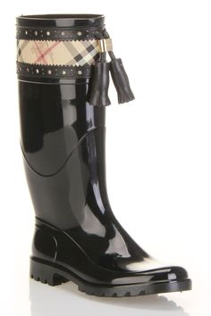 Burberry Haymarket Brogue Dutton Rainboot