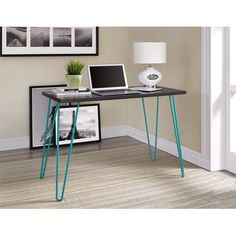 Simplicity and functionality come together in the Altra Owen Retro Desk. The slender silhouette allows the Owen Desk to easily fit in small spaces. Altra Owen Retro Desk requires minimal assembly upon delivery. Home Office Space, Home Office Desks, Home Office Furniture, Green Furniture, Office Spaces, Retro Furniture, Industrial Furniture, Vintage Industrial, Furniture Ideas