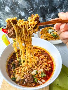 Beef Ramen Noodle Recipes, Ramen Noodles, Noodle Soup, Noodle Bowls, Mexican Food Recipes, Dinner Recipes, Ethnic Recipes, Dinner Ideas, Mexican Dishes