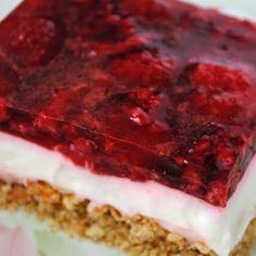 Raspberry Cream Cheese Pretzel Salad