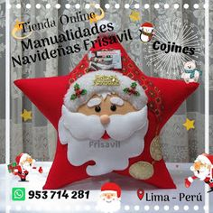 Merry Christmas, Christmas Ornaments, Christmas Stockings, Santa, Halloween, Holiday Decor, Crochet, Diy, Christmas Cushions