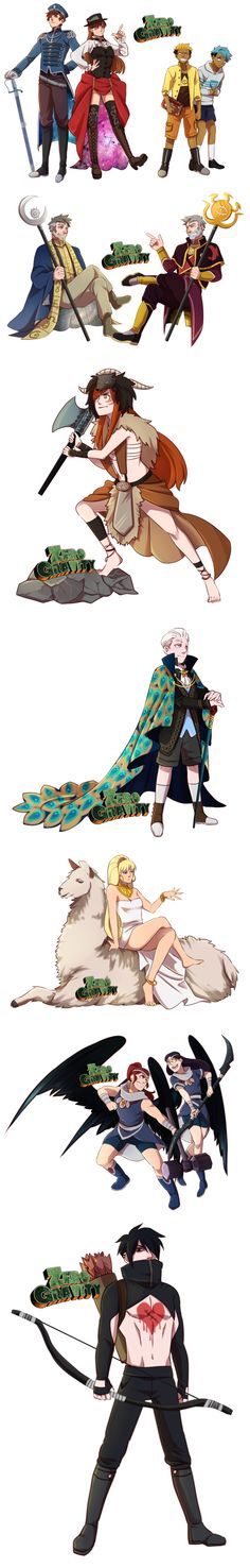 Zero Gravity Characters