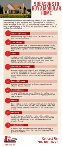 9 Reasons to Buy a Modular Home [infographic] http://1stchoicehomecenters.wordjack.com/business/9-reasons-buy-modular-home-infographic