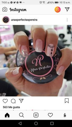 Uñas Love Nails, Pretty Nails, My Nails, Gelish Nails, Manicure And Pedicure, Gel Nail Art, Nail Polish, Transparent Nails, Green Nails