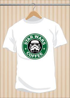Camiseta #StarWars #Starbucks Coffee #LaGuerraDeLasGalaxias #TShirt #Tee #Art #Design con envío #gratis sólo en www.UppStudio.com