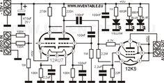 Circuito del amplificador valvular.