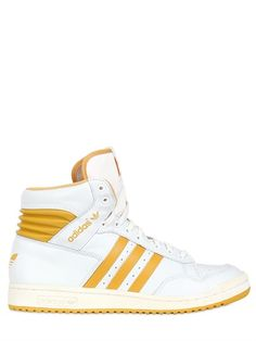 ADIDAS ORIGINALS | PRO CONFERENCE LEATHER HIGH TOP SNEAKERS