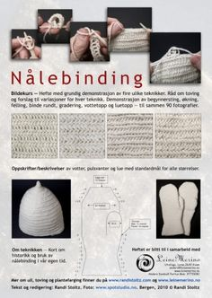 Naalbinded gloves - pattern