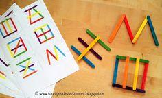 Sonniges Klassenzimmer: Stäbchenlegebilder