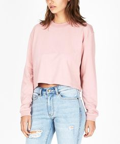 GP Tees CROPPED OVERSIZED LONG SLEEVE T-SHIRT MUSK   Long Sleeve T-Shirts   T-Shirts   Clothing   Shop Womens   General Pants Online