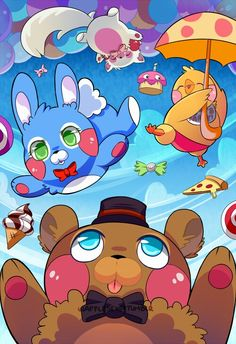 Five Nights At Freddy's  They're so cute cute cute cute cute CUTE!!!!!! :* :) <3