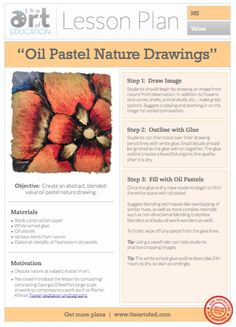 Oil Pastel Nature Drawings: Free Lesson Plan Download
