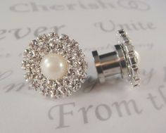 Wedding Pearl Plugs / 2  14mm / pearl and by misunbridal on Etsy, $28.00