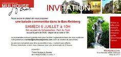 Balade dans le Rebberg avec l'association Mulhouse j'y crois c'est le samedi 6 juillet !