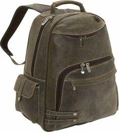 Bellino The Rebel Leather Laptop Travel Backpack Brown - via eBags.com!