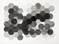 A untitled Wax-graphite on gessoed paper by American Artist Mary Ann Unger.
