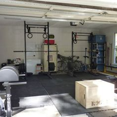 Another his and her garage gym
