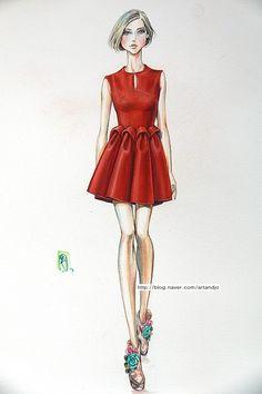 #fashion #illust #fashion #illustration #패션일러스트 #아트앤조 #delpozo #fashion #drawing
