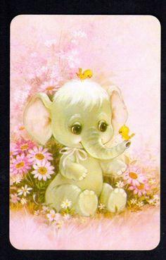 Cute Baby Elephant Little Birds swap card Cartoon Elephant, Elephant Art, Elephant Tattoos, Cute Baby Elephant, Little Elephant, Cute Drawings, Animal Drawings, Elephant Pictures, Little Birds