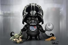 Baby Vader by Nathan Szerdy, signed 12X18 print