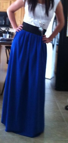 DIY Maxi skirt tutorial. I love my maxi dresses....I wonder if this would make me look pregnant.