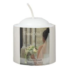 Bride & Bouquet Wedding Favor Votive Candle