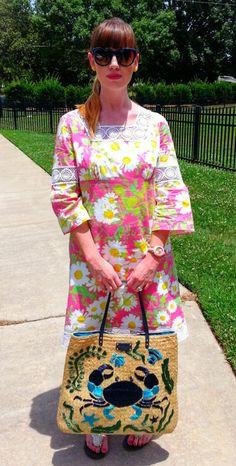 Floral Prints…   Cortneybre #LilyPulizter #Katespadebeachbag #Fblogger #SummerFashion