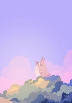 Cute Pastel Wallpaper, Anime Scenery Wallpaper, Kawaii Wallpaper, Wallpaper Iphone Cute, Wall Wallpaper, Studio Ghibli Art, Studio Ghibli Movies, Cute Cartoon Wallpapers, Animes Wallpapers