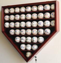 43 Baseball Display Case Cabinet Holder Wall Rack Box   eBay