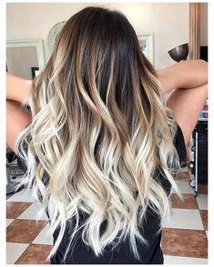 Brown Ombre Hair, Brown Hair Balayage, Brown Blonde Hair, Hair Color Balayage, Brown Hair Colors, Brunette Hair, Hair Highlights, Dark Hair, Ombre Medium Hair