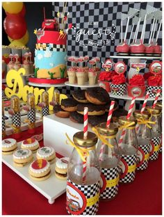 Dante's Cars Birthday Party | CatchMyParty.com