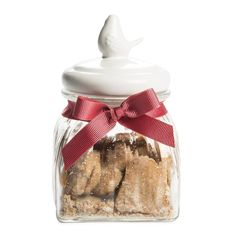 Heart Biscuits in Glass Jar 220g