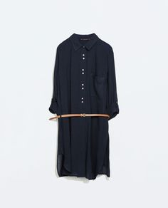 Image 6 of SHIRT DRESS WITH BELT from Zara  £38