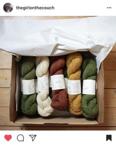 so many of our few colors in le petit lambswool are now already almost sold out ! 10 out of our 25 shades are very low in stock - this is incredible, and we are really thankful for that big welcome from all you guys ! + we can't get over @thegirlonthecouch 's photo of her box of wool that arrived in her mail last weekend  thank you so much for sharing ! big hugs everyone ! xx astrid & caroline  ////   pleins de nos quelques coloris dans le petit lambswool sont maintenant déjà presque ép...